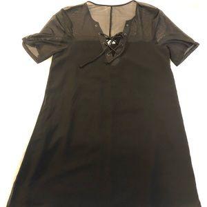 BCBG Little Black Dress with mesh detail